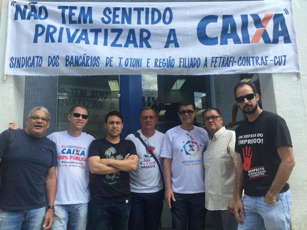 Dia Nacional de Luta nesta quinta (29) intensifica mobilização contra fatiamento da Caixa